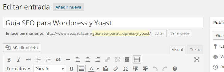 WordPress: Título y URL