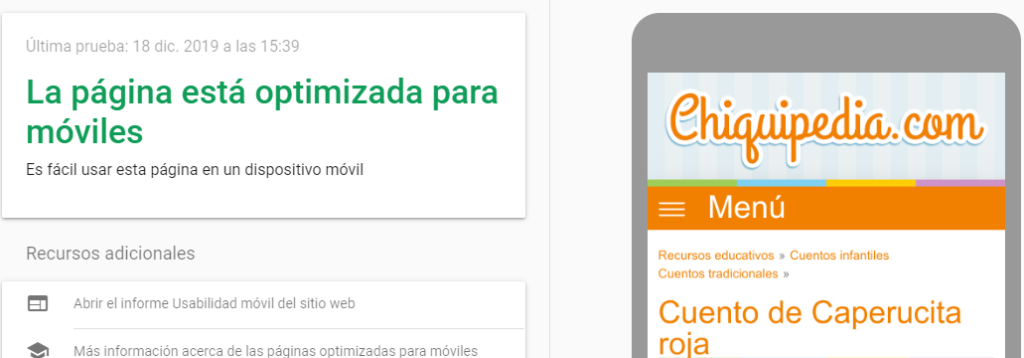 Mobile Test de Google